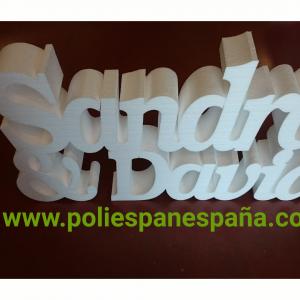 NOMBRES PARA DECORACIÓN EN POLIESTIRENO O POREXPAN ECONÓMICO
